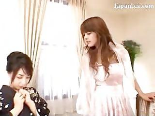 chick into kimono kissing passionately taking her