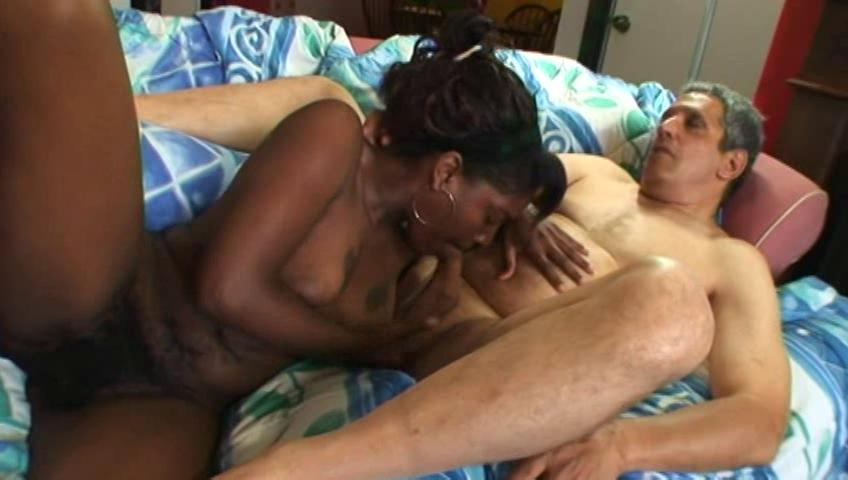 turned on black chick with huge boobs gives