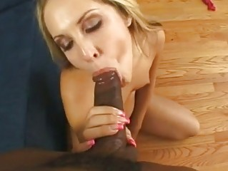 sizzling chelsie rexes  gags on a wide boner