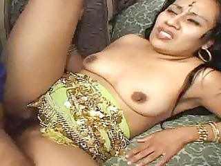 naughty indian mature babe takes her hairy pussy