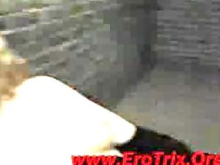 man inserts his head into vagina