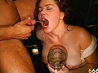 bizarre piss drinking bukkake