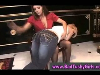 rich slut spanks lady