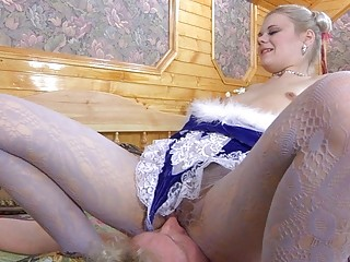 sensual pale into gorgeous panties and nylons