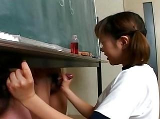 itsuki wakana gives a sweet handjob