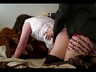 crossdresser visage drilled and obtaining arse