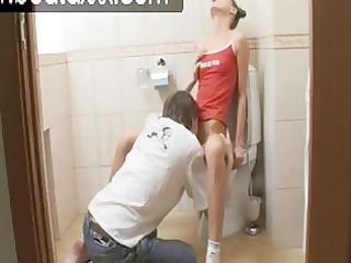 beata girl into bathroom fellatio action