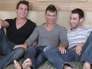 triple bleached naughty gay hunks having three
