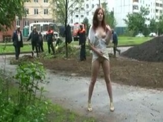 outside nudity enjoying the doing job class