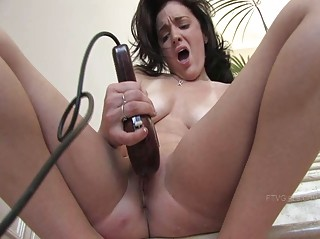 brianne desperate brunette amateur playing kitty