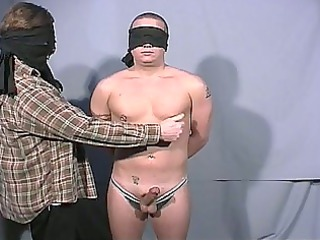 blindfolded gay guys go at each others big libido