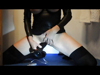 grownup lady huge breast and clit punish