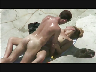three beachfuck and lick under the awesome sun