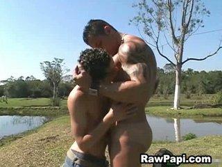 latino gay and huge muscle tough bareback