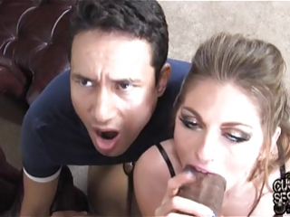 cuckold watching his bitch housewife breeding by