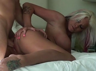 Big tits MILF picked up and fucked