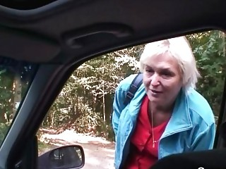 car driver fucks elderly slut