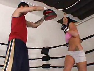 sweet woman fighter obtains rocked