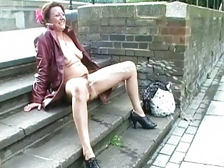 upskirt outside masturbation and naked al fresco