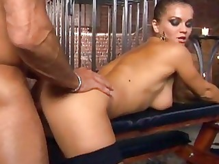 analsex and ripped thigh high fishnet nylons fuck