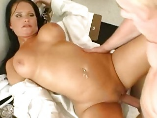 giant boobed brunette nurse screws a naughty