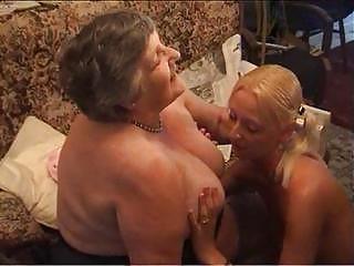 grandma eats a charming lesbi angel