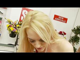 american pale bitch obtains gangbanged into a shop