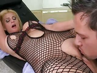 albino slutty albino into ebony fishnet