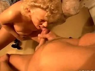grandpa gives grandma a ejaculated of vitamins