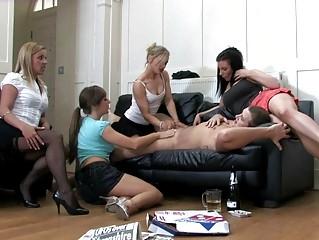 naughty girls into naughty pants into cfnm bunch