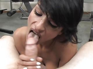 horny latin persia pele giving bj and handjob and