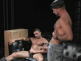 angelo marconi drilled by hirsute daddy josh west