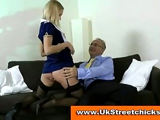 granny male piercing a beautiful bleached nylons