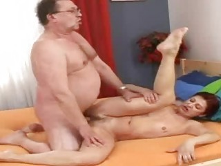 busty granny grandmommy takes young cumshots
