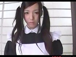 cute japanese maid upload by unoxxxcom