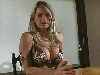 woman inside leopard print underwear obtains a