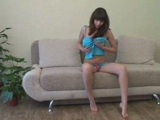alina exposes on sofa pt. 1