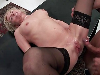 lovely busty 50yo elderly into fucking big cum