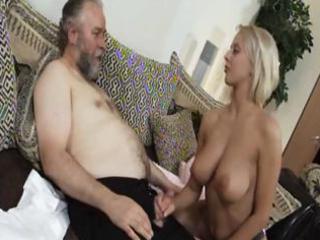 grownup blond mandy dee bounces her big tits as