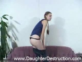 pretty daughter drilled by horny granny daddy