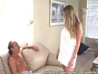 chick obtains spanked for cheating
