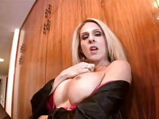 wonderful blond mature angy attison wipes out her