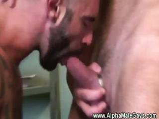 tattoed muscle loves cock licking and anal