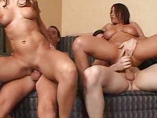 foursome banging with clean cave hoes