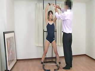 skinny babe japanese chick obtains tied up and