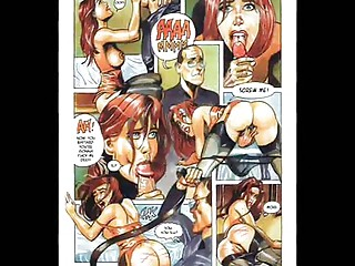 Redhead loves fetish orgy cartoon comic