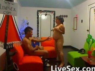 latina pregnant fuck