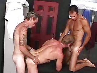 awesome gay threeome with slutty buddies