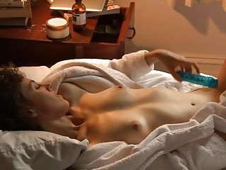 aroused sweet amateur girl pleases with her pussy