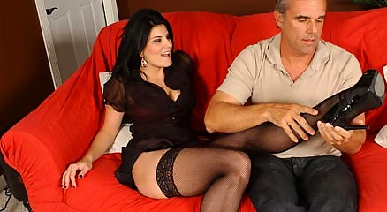 pantyhose feet models legs worshiped and banged